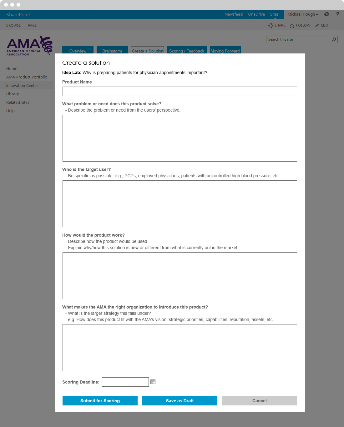 Create a Solution Form