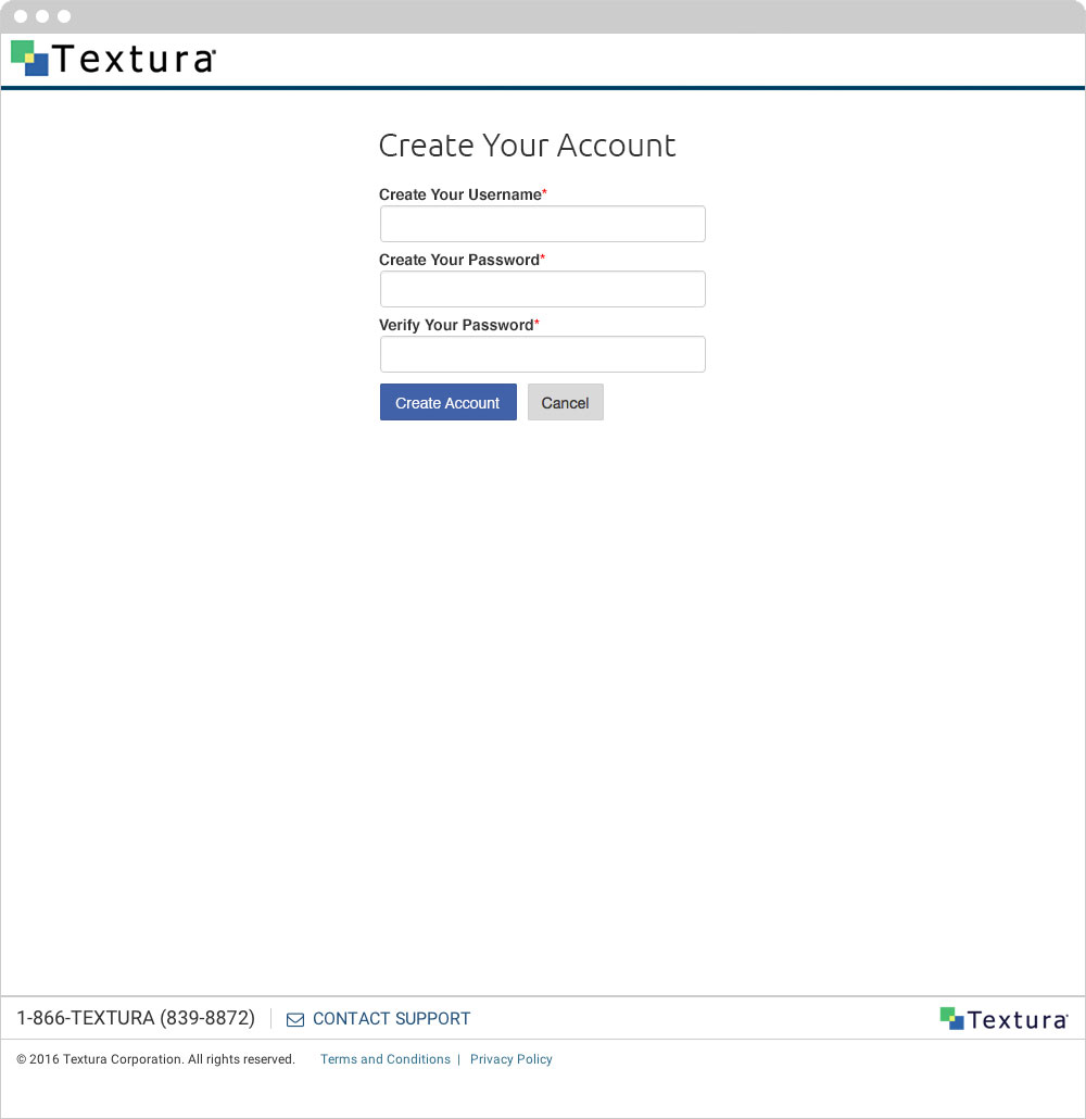 Textura - Create Your Account