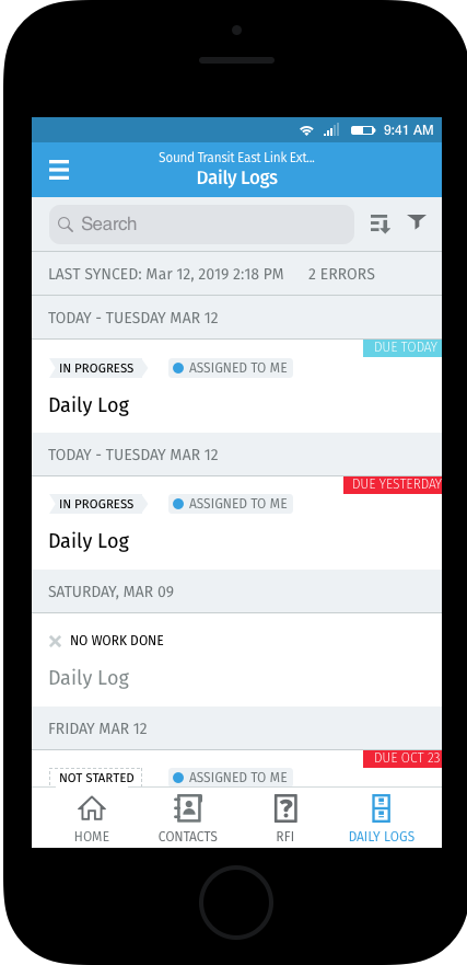 Daily Logs